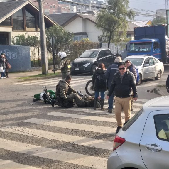 carabinero accidente